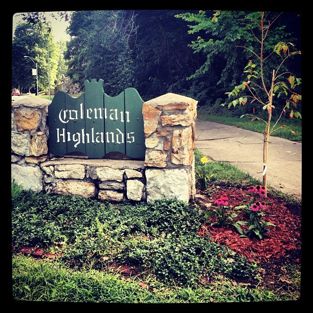 Coleman Highlands Sign