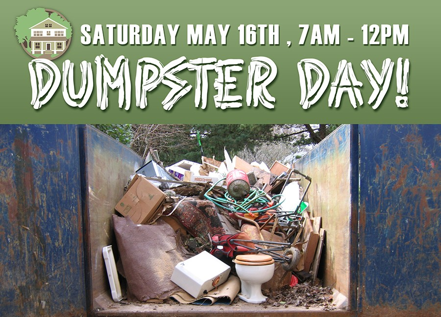 Dumpster Day 2015 - May 16th - Coleman Highlands
